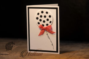 balloon card on wood