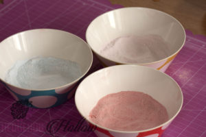 Coloured sugar used