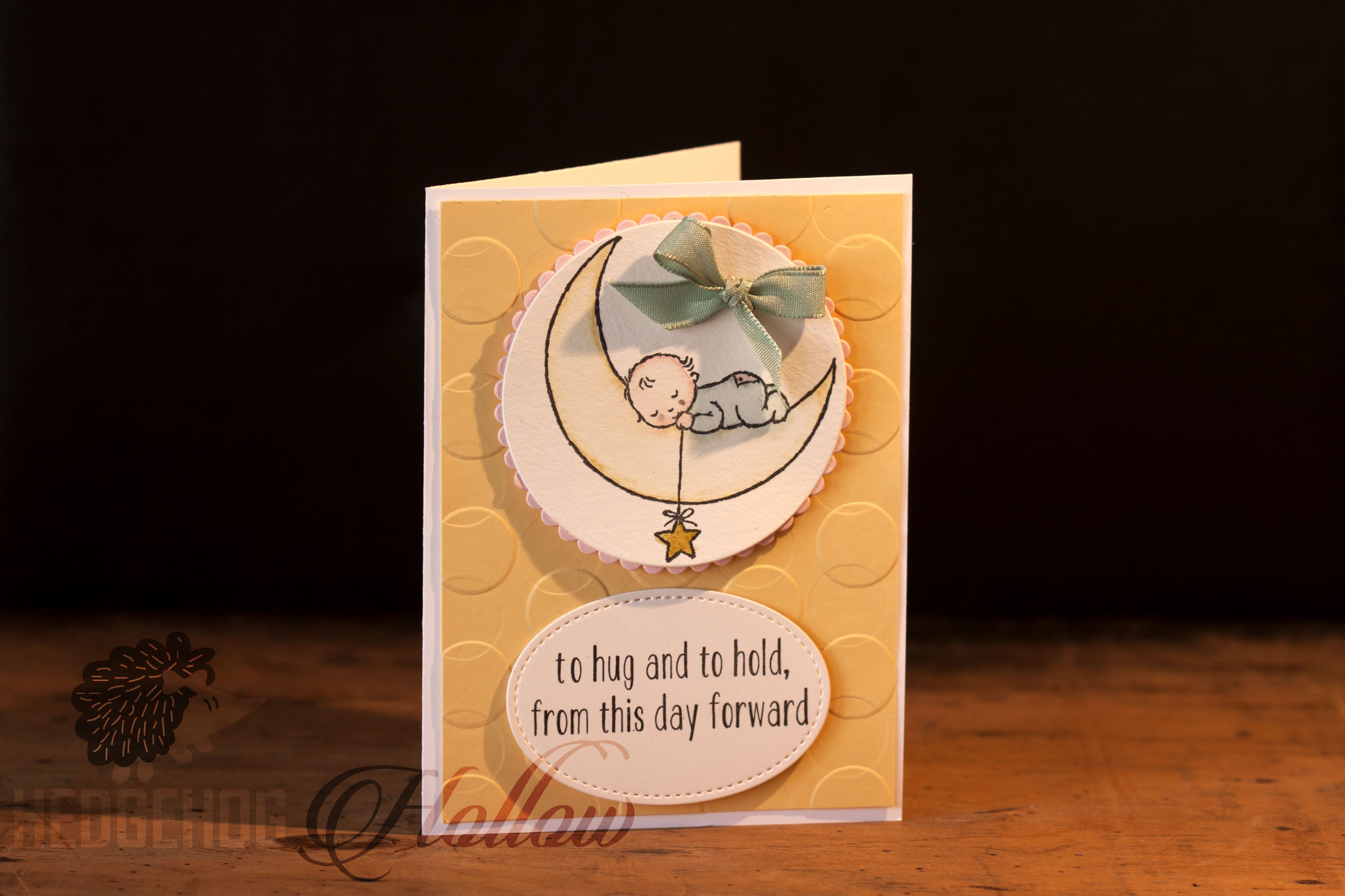 Easy Peasy Watercolor Baby Card