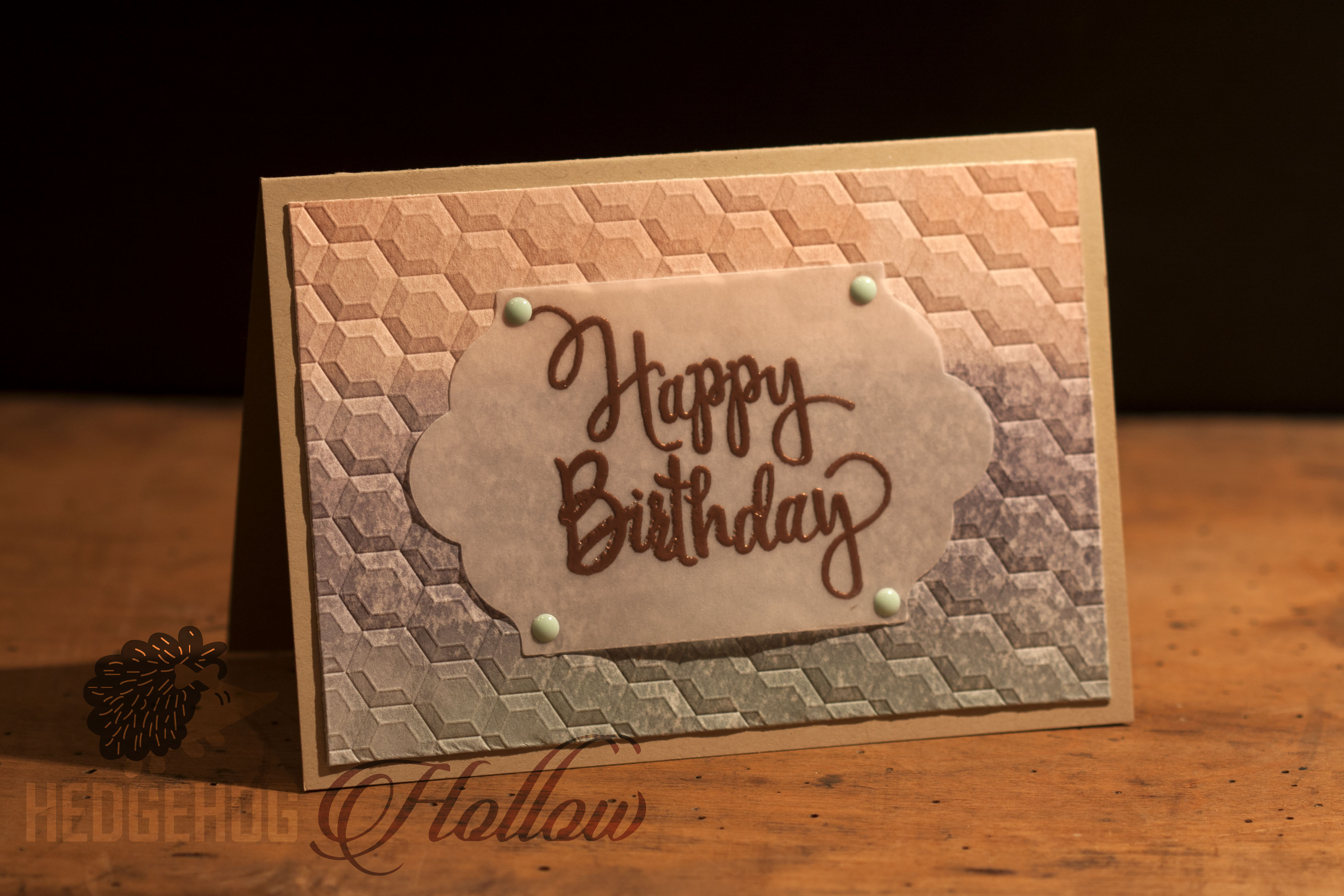 Watercolor Backgrounds with Reinkers and Deep Embossing