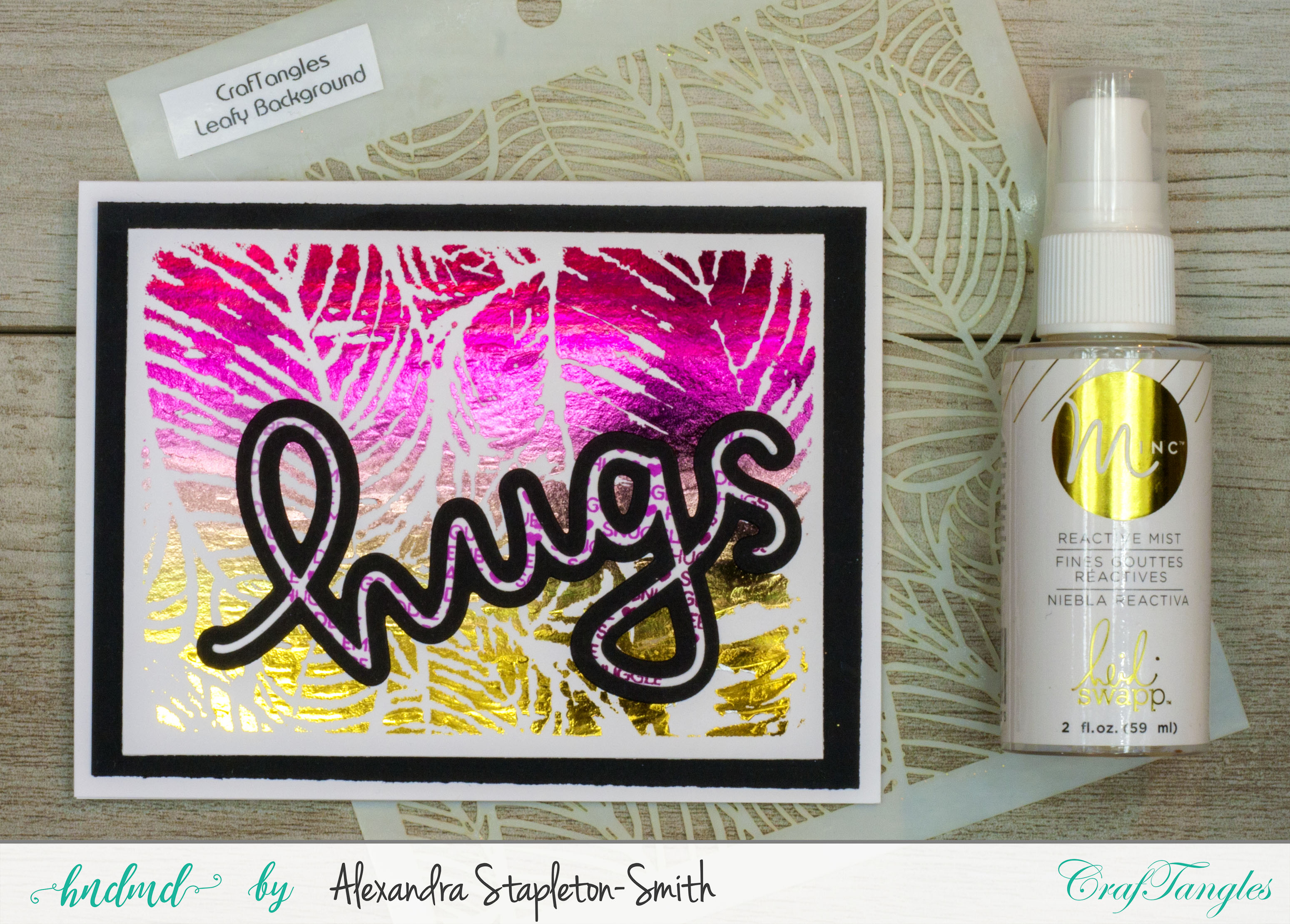 How to foil with stencils