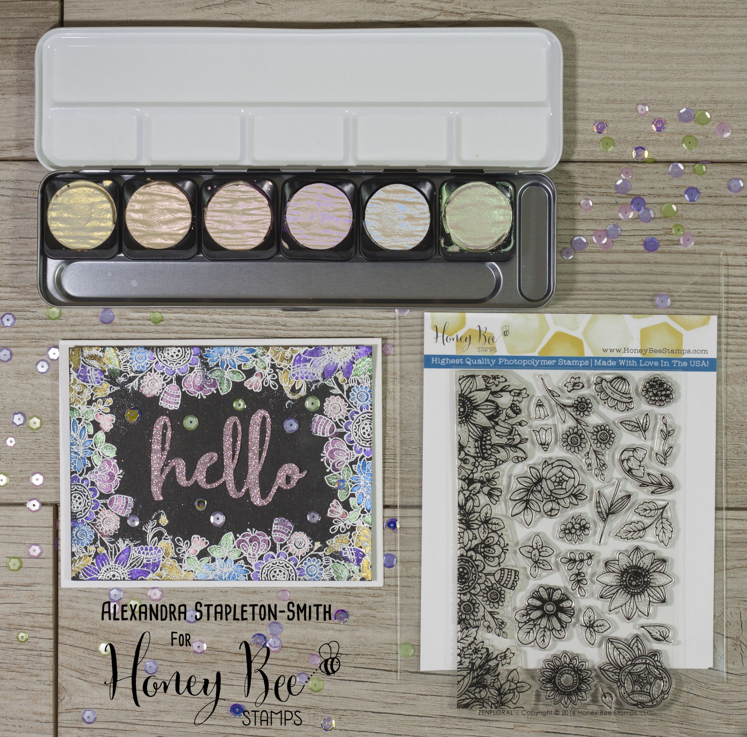 Zen corners and bling from Honey Bee Stamps!