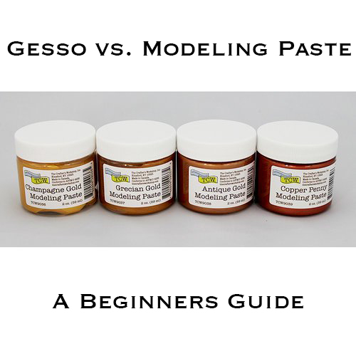 Top Tips for working with Modeling Paste and Gesso