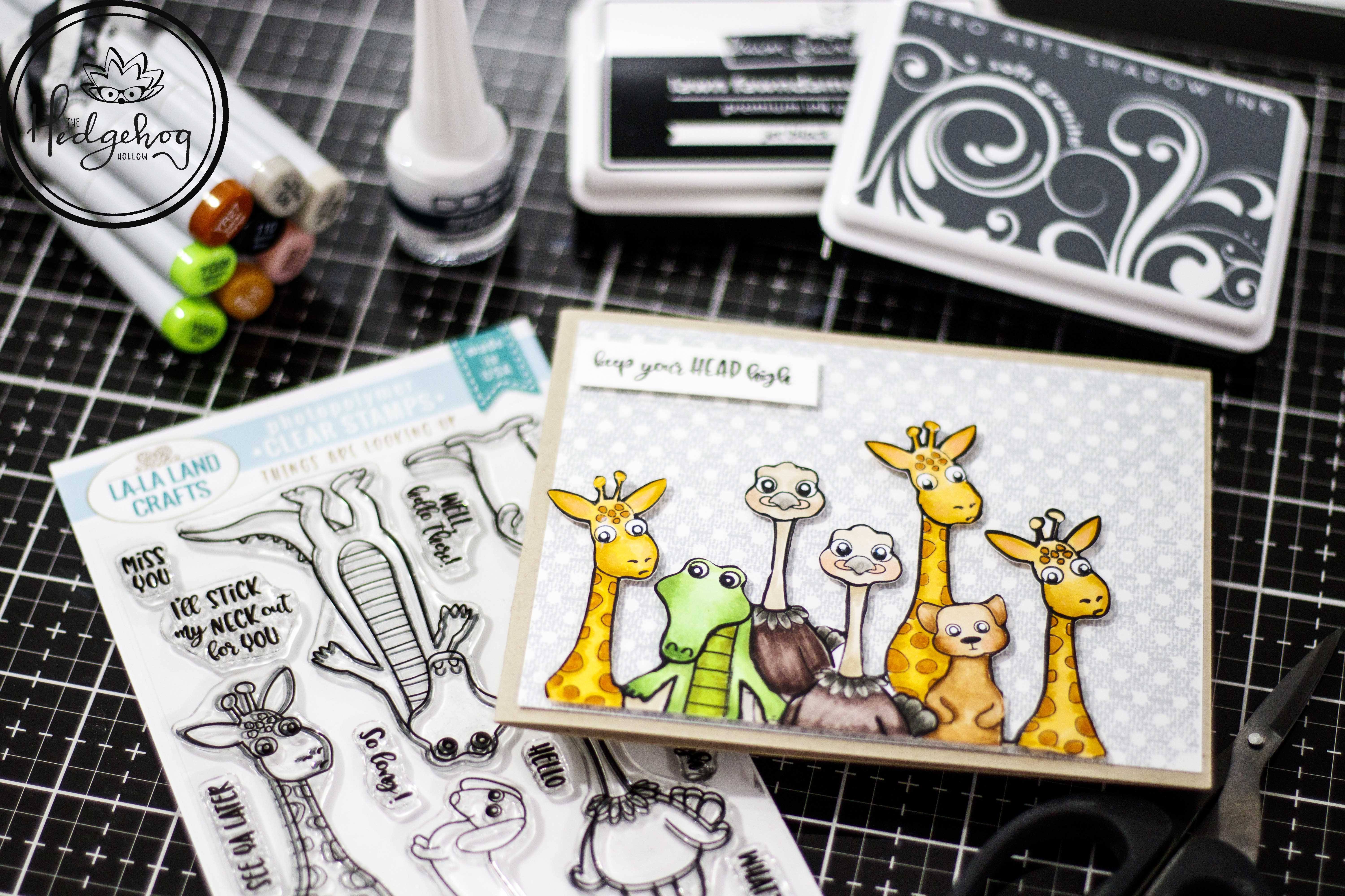 Heads Up! La-La Land Crafts New Release + Copic Tutorial