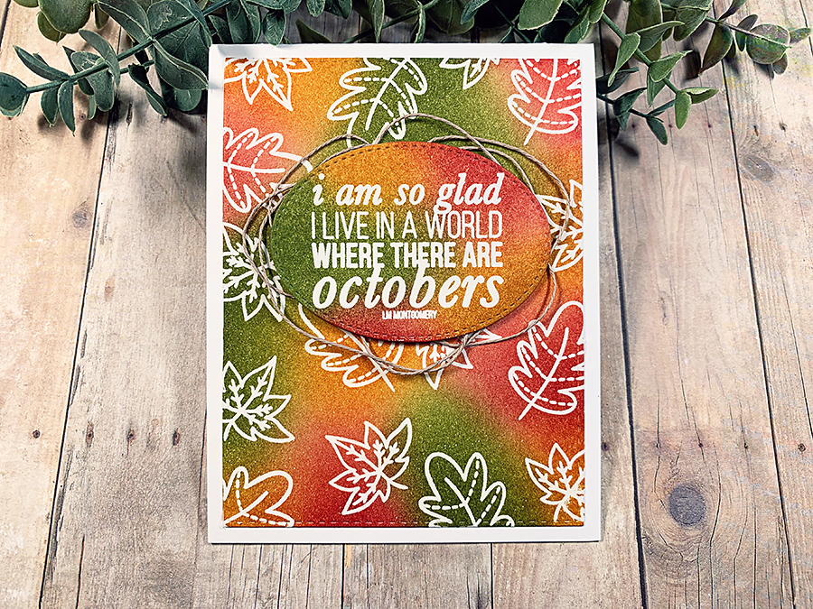 Autumn Emboss Resist With Distress Inks