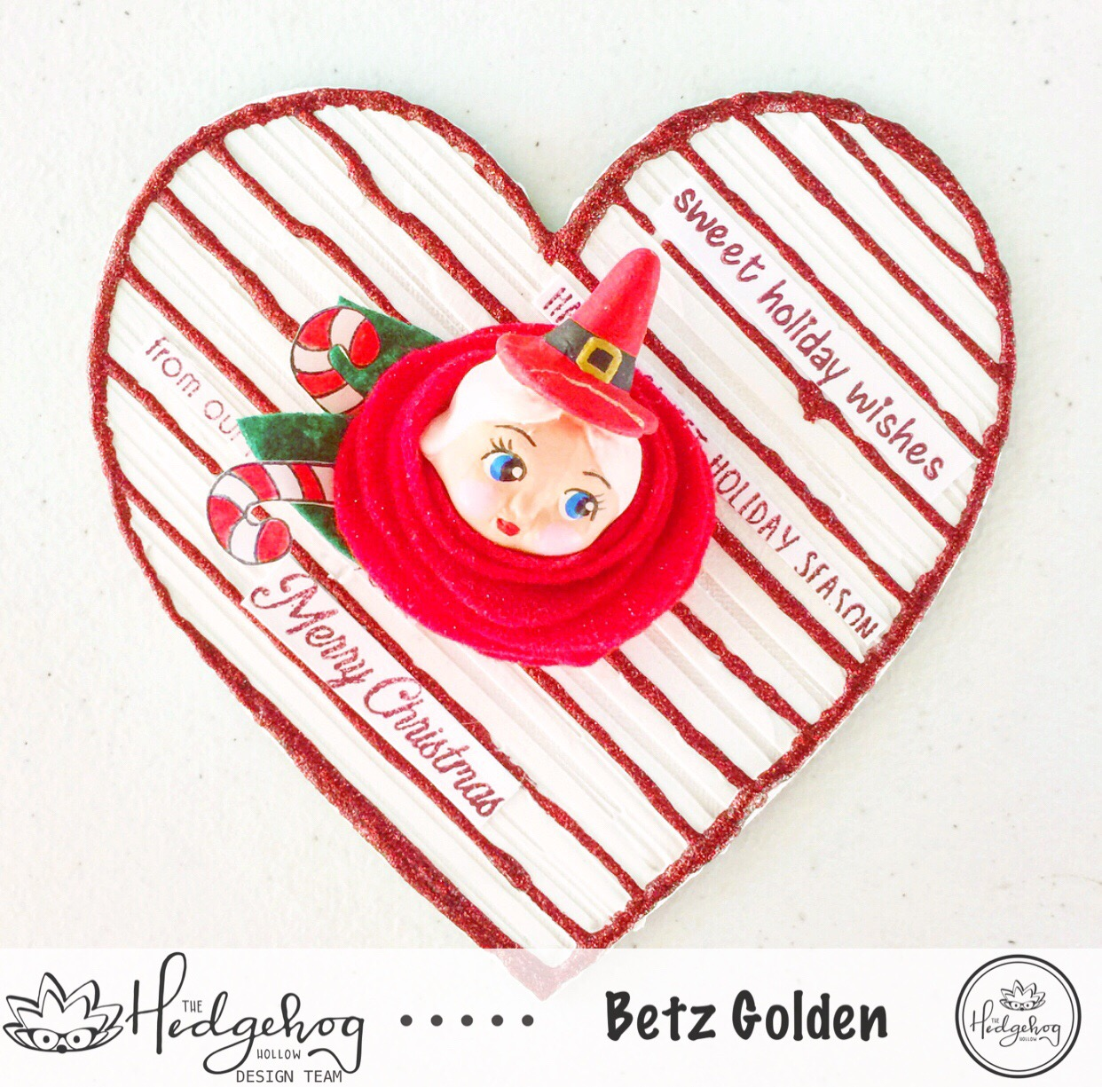 Mixed Media Mrs Claus Magnet with the November Box!