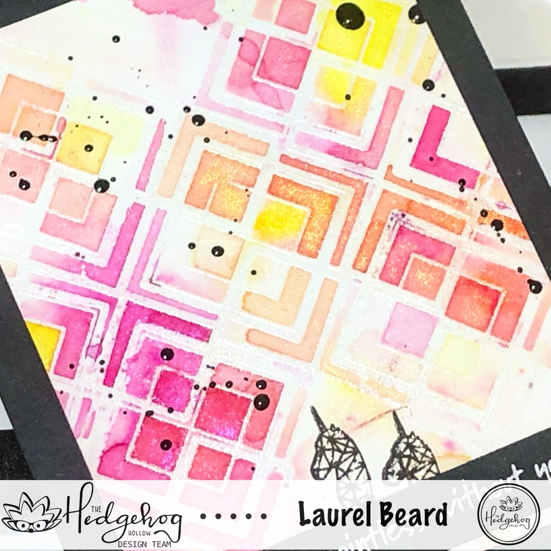 Shimmery Powdered Geometric Background with Laurel Beard