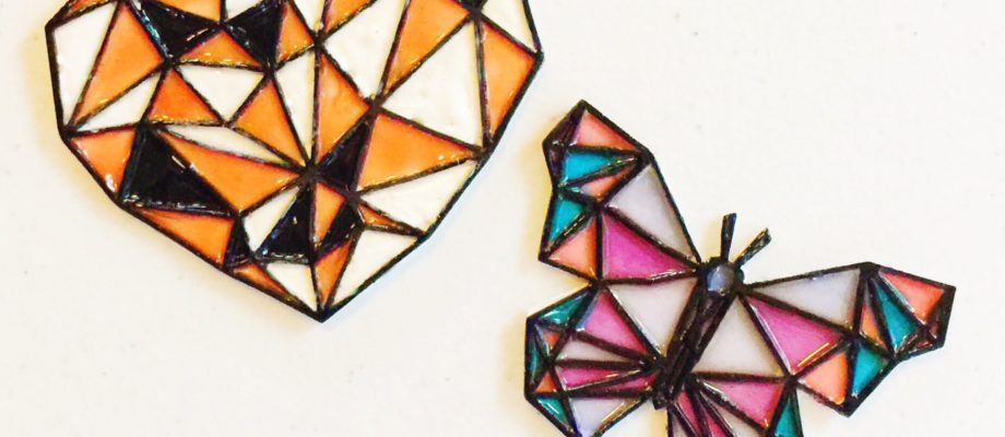 How to Make Stain Glass with Chipboard Pieces