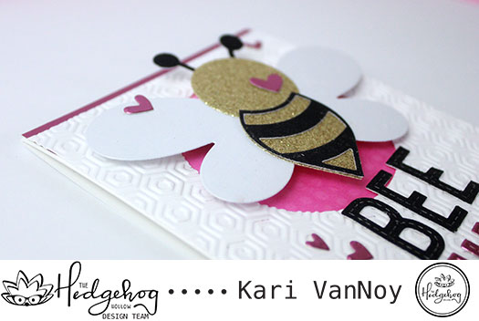 Creating Glitter cardstock and Bee Card (Valentine Edition)
