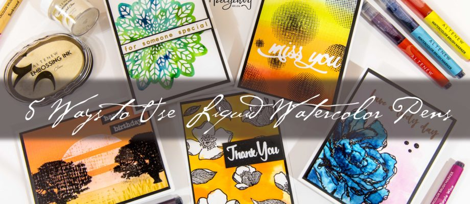Altenew Watercolor Brush Markers Release Blog Hop + Giveaway
