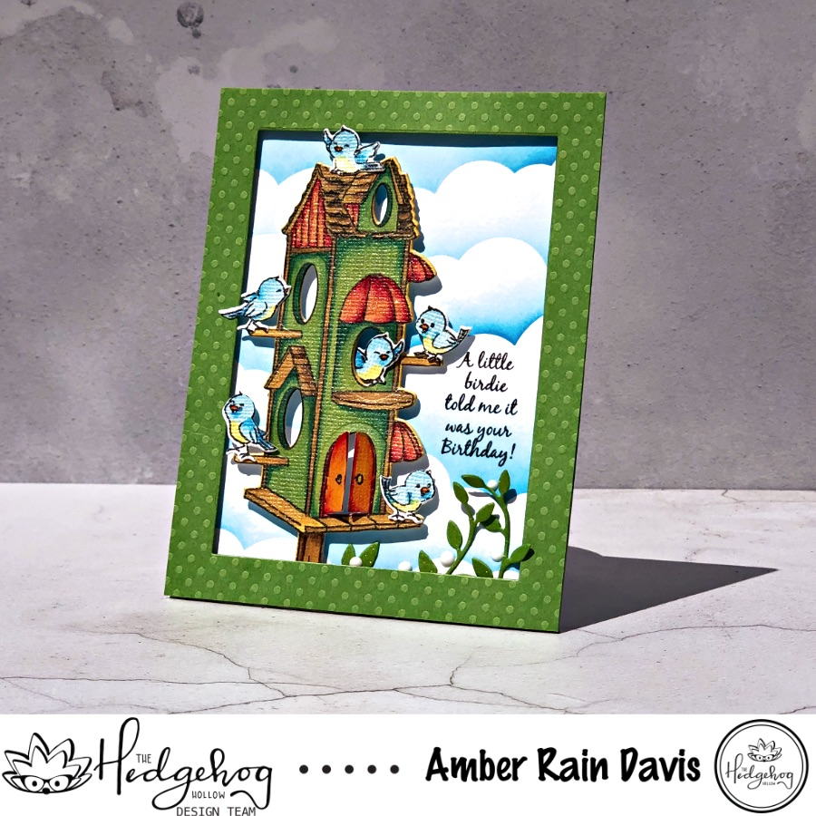Shimmery Birdhouse Cubby
