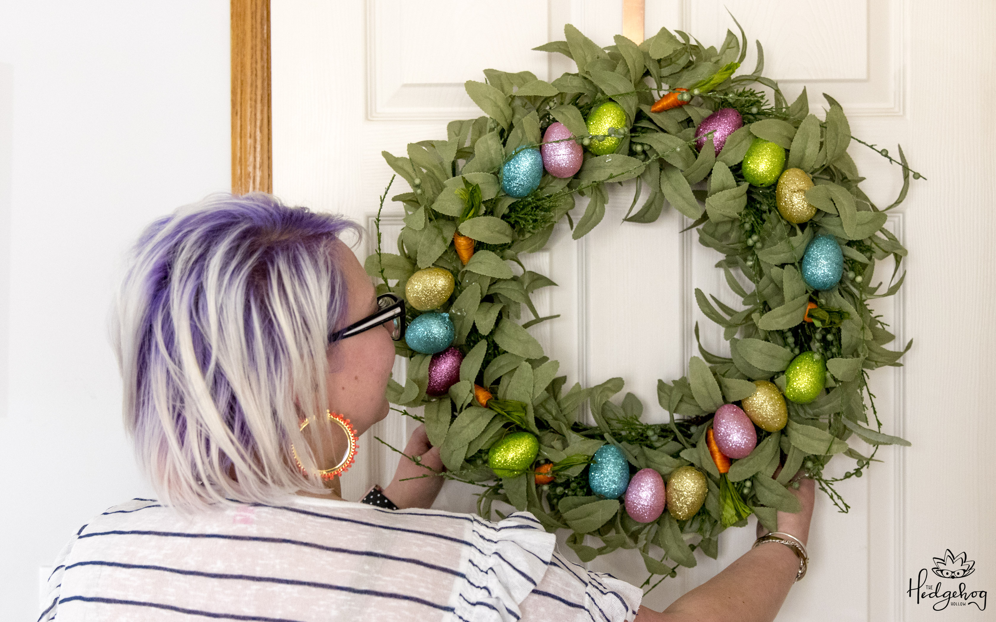 Easter Wreath On A Budget 3 Dollar Tree Diy Upcycle A Christmas