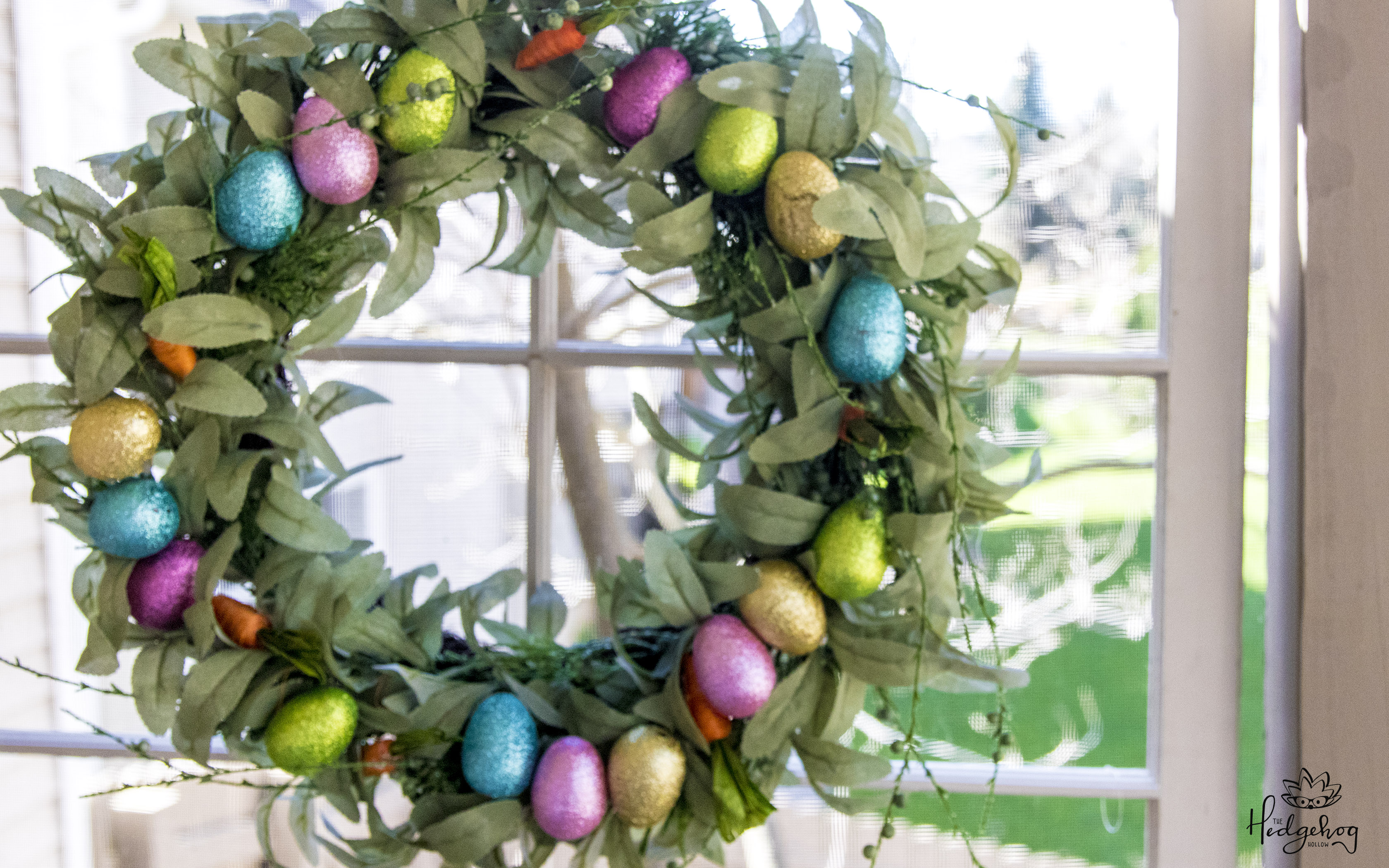 Easter Wreath on A Budget – $3 Dollar Tree DIY – Upcycle a Christmas Wreath into a Stunning Farmhouse Easter Home Decor Item