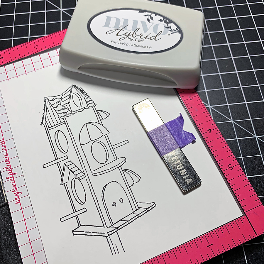 Mask Stamping and Copic Coloring