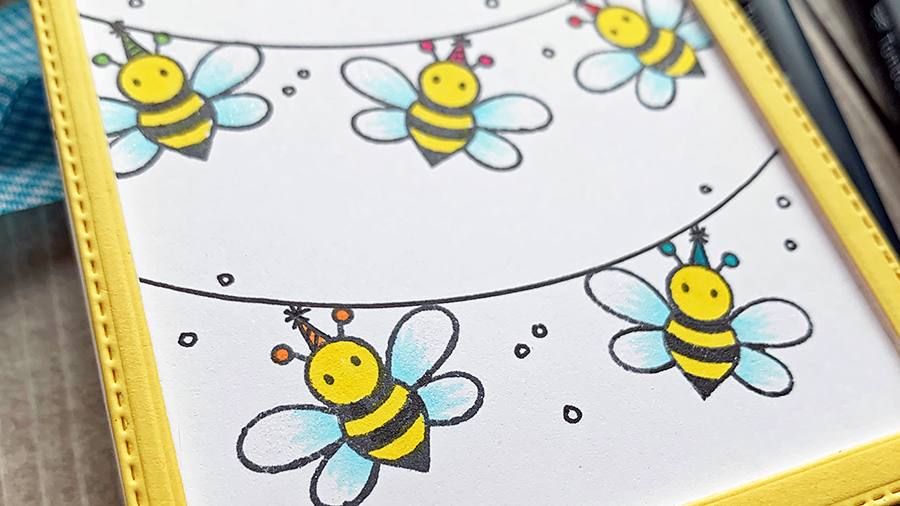 A Hap-Bee Birthday Gift Tag with Niki