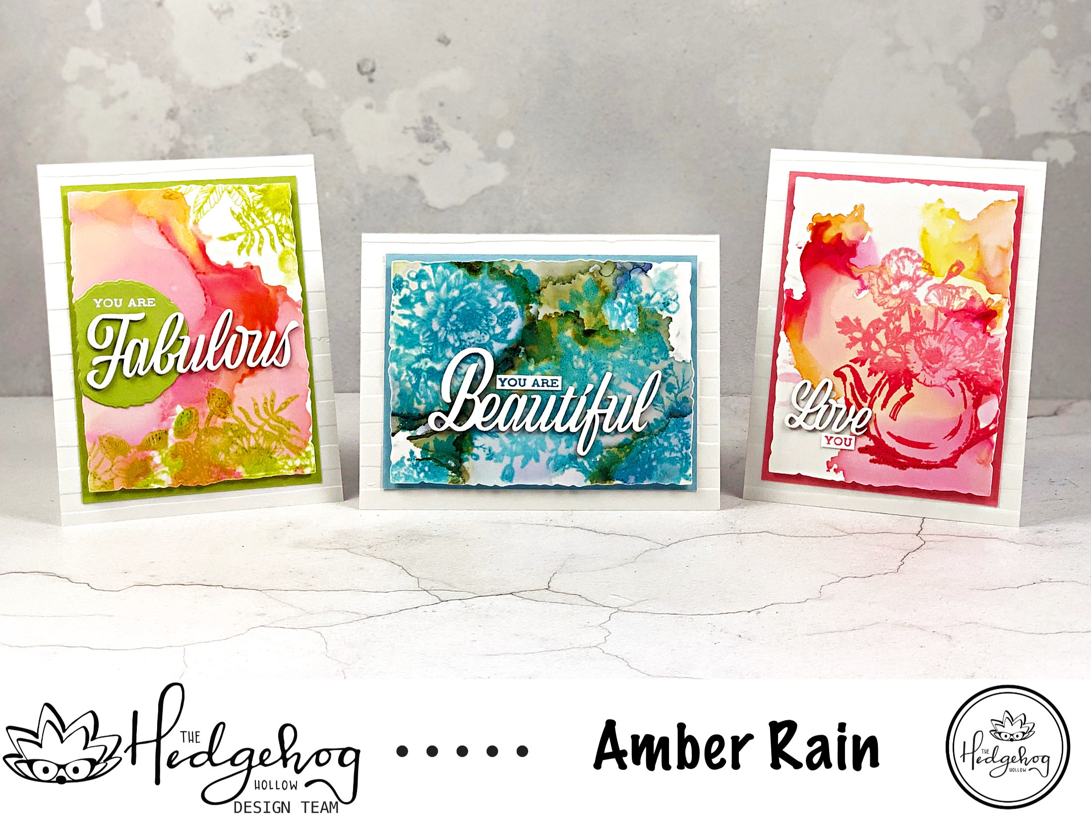 Stamping on Alcohol Ink Panels