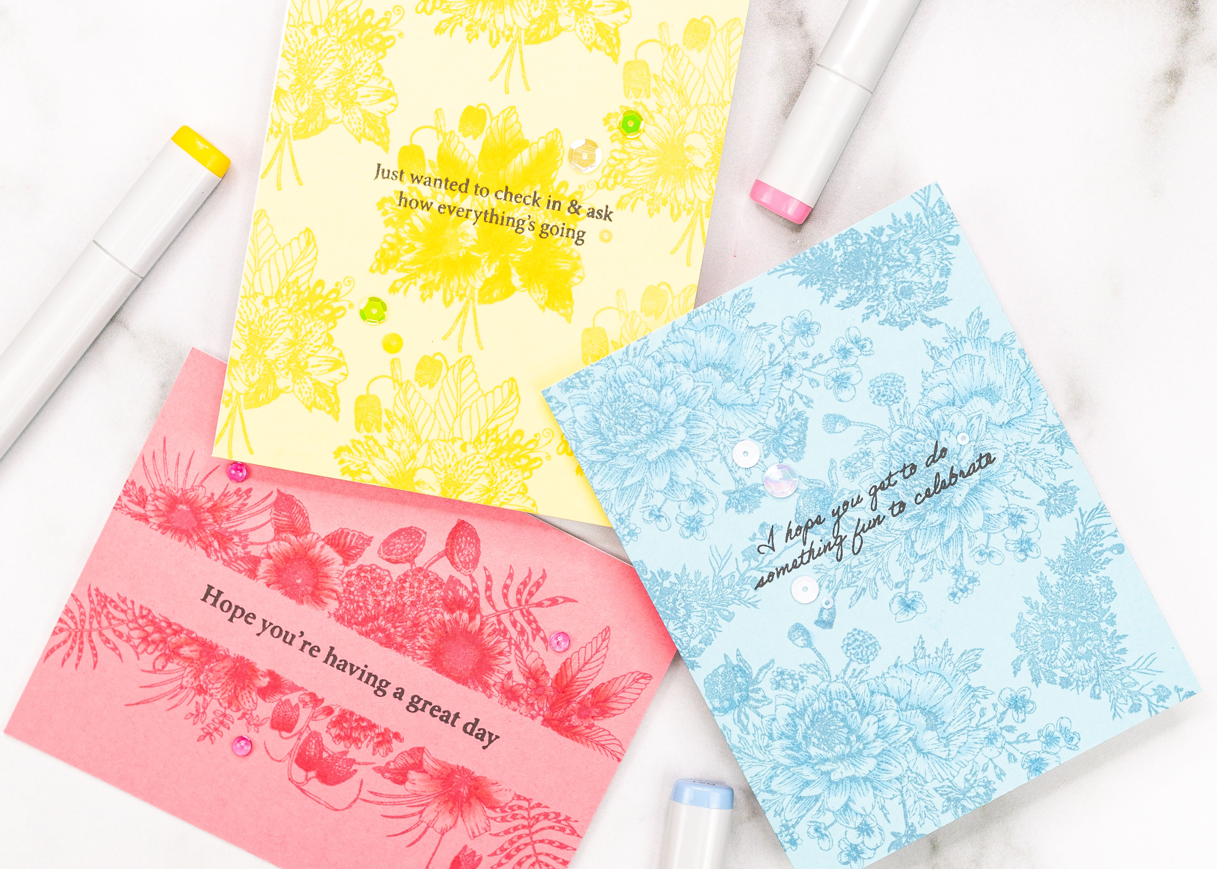 Clean and Simple Tone on Tone Cards with Jenny Colacicco