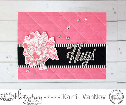 Monochromatic Bouquet card with Kari
