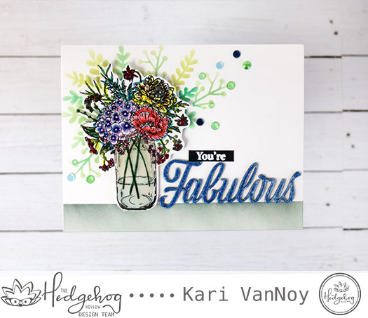 Floral Arranging with Selective Stenciling