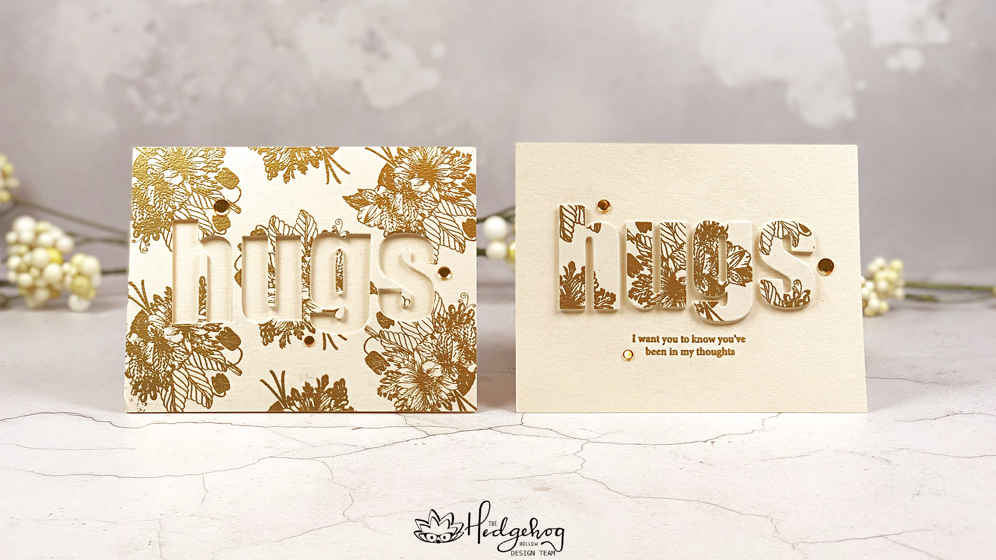 Floral Typography Twofer Card Designs