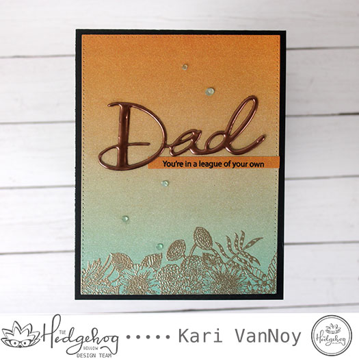 Masculine Card with a Floral Twist