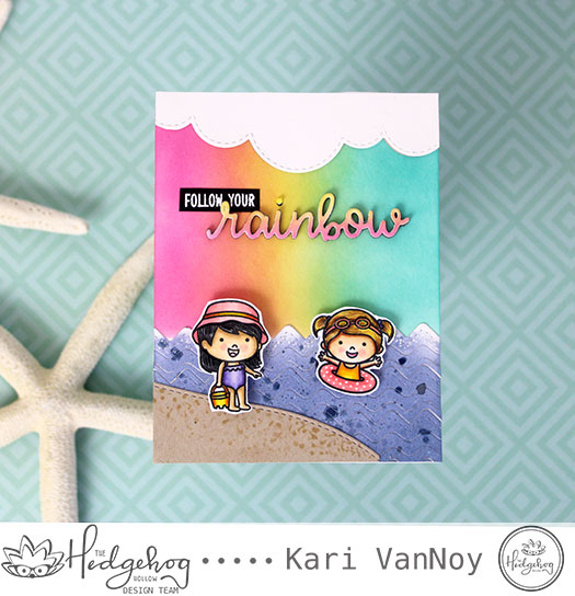 Follow Your Rainbow card with Kari