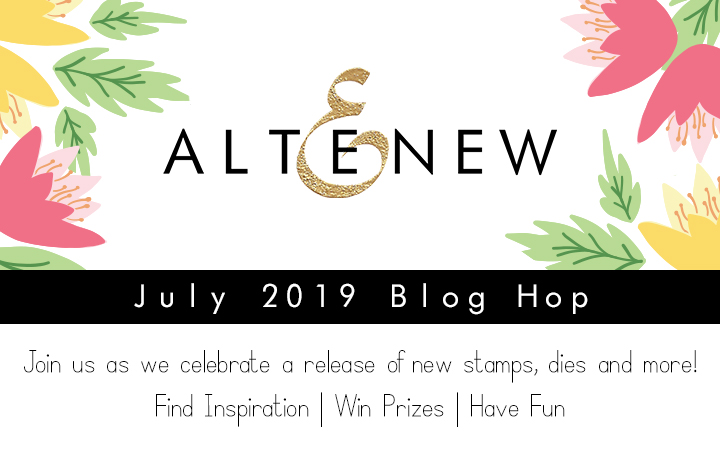 Altenew July 2019 Stamp/Die/Stencil/Stamping Mat Release Blog Hop + Giveaway