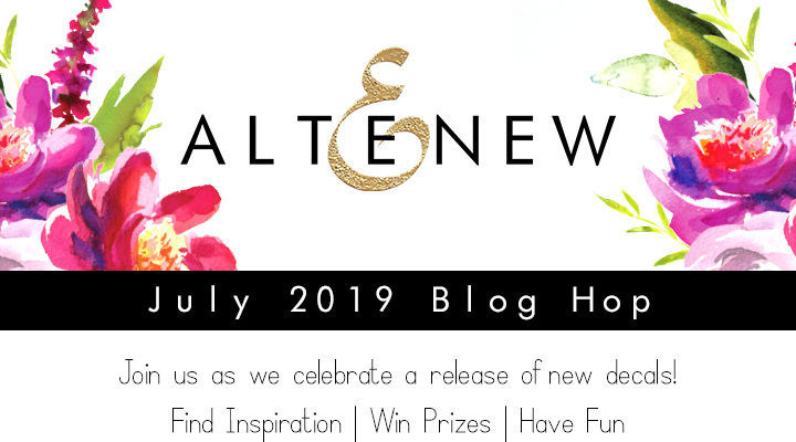 Altenew July 2019 Decal Release Blog Hop + Giveaway