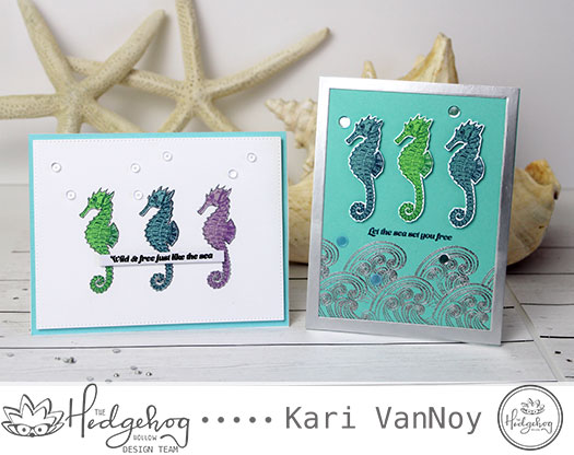 Layering Stamp Tips with the Seahorse stamp set