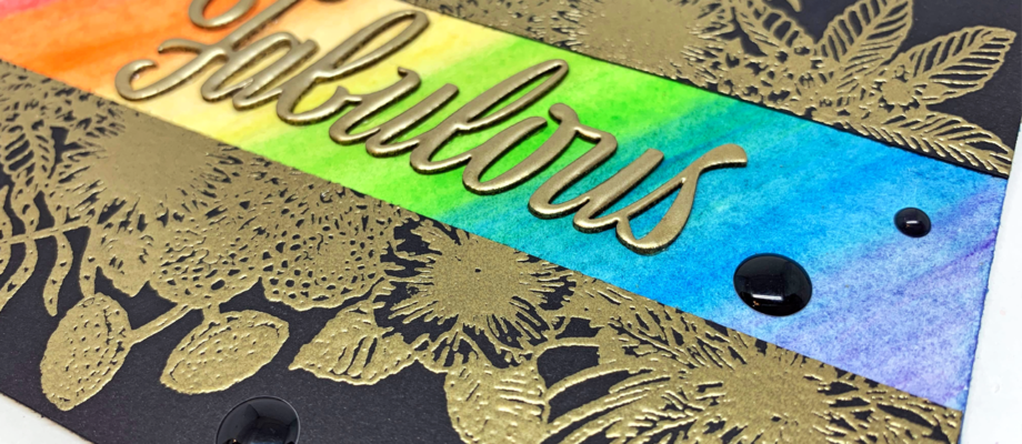 Embossing and Watercolor Card with Nadine Carlier