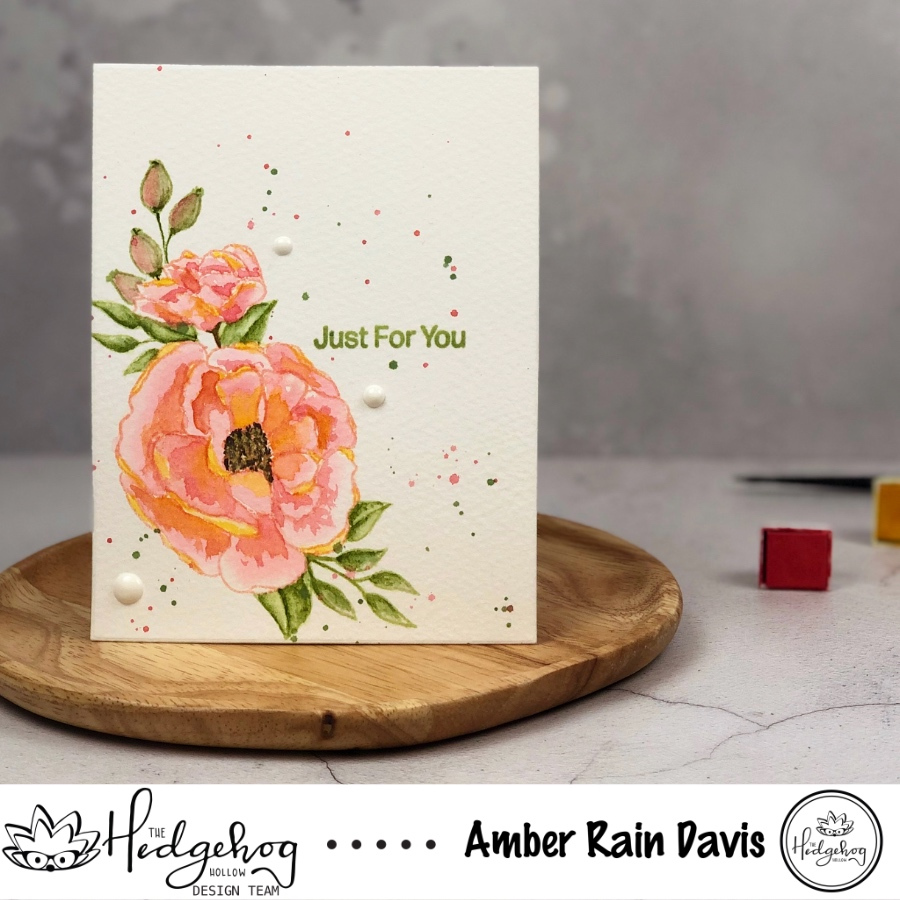 Loose Watercolor Florals | The Hedgehog Hollow August 2019 Kit