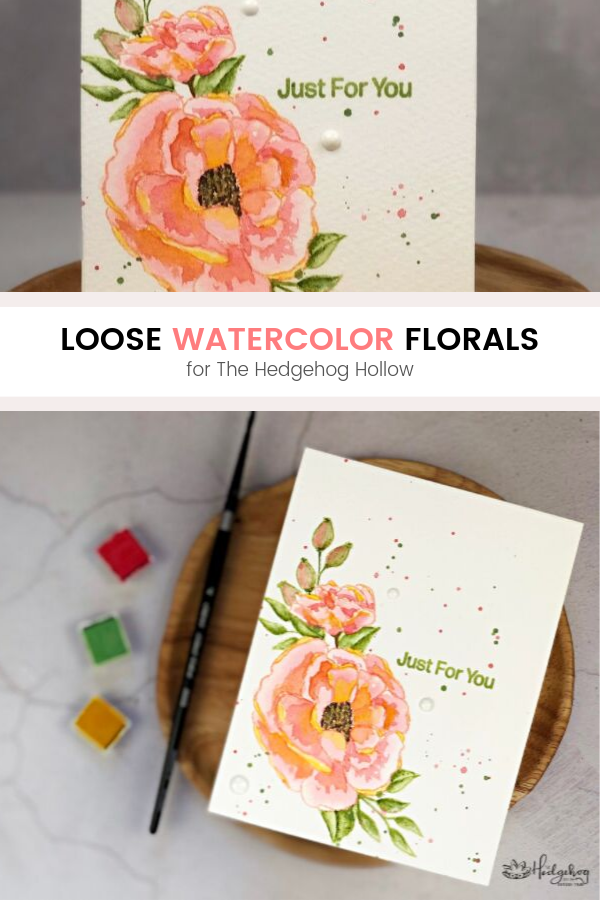 Pinterest | Loose Watercolor Florals | The Hedgehog Hollow August 2019 Kit