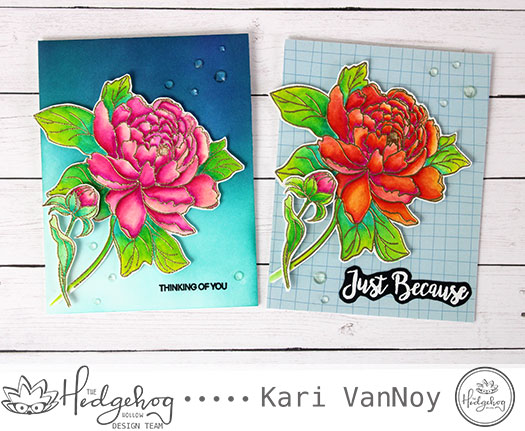 Floral Cards with Watercolor Markers (August box)