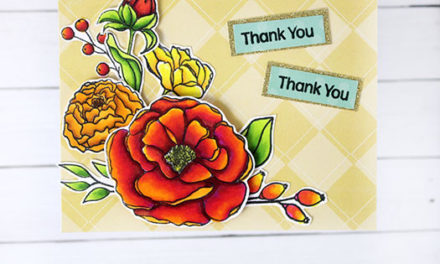 Fall Floral Card with the August Kit