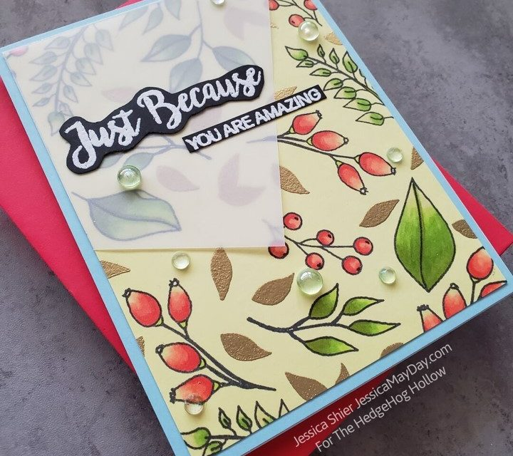 Stamp and Color on Colored Cardstock with Jessica Shier