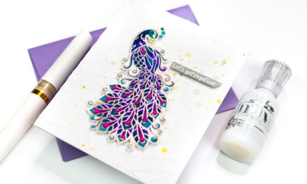 Bejeweled Geometric Peacock with Jenny Colacicco