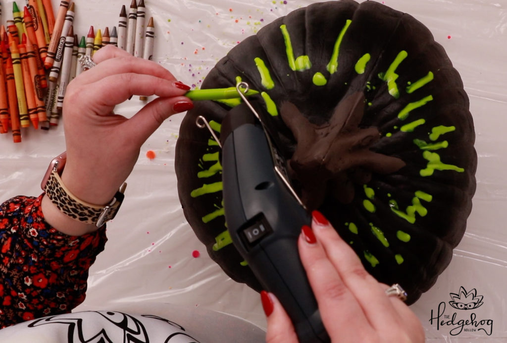 Halloween theme pumpkin decoration with Wagner heat gun