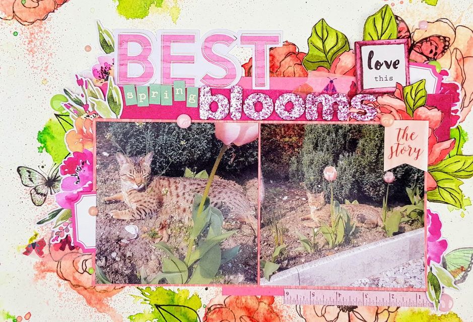 August Kit: A Scrapbook Page with Jenny Cavanaugh-Bond
