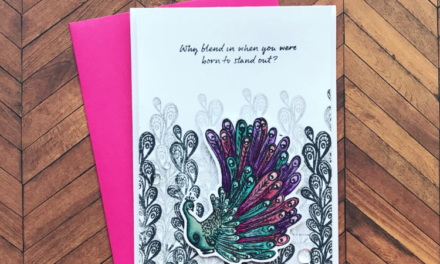 Second Generation Stamping & a Colorful Focal Point