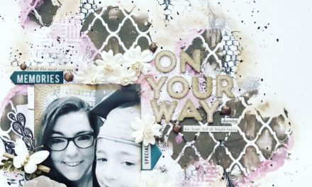 Mixed Media Scrapbook Layout with Jess Francisco