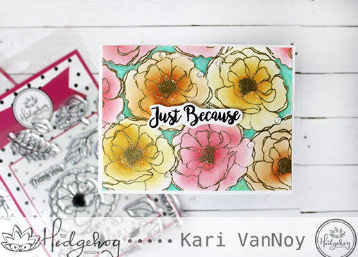 Fast Floral Card (no masking!)