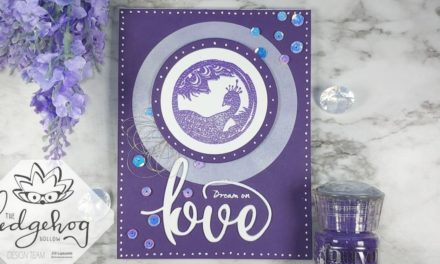 White Ink Blended Medallion Spotlight Card