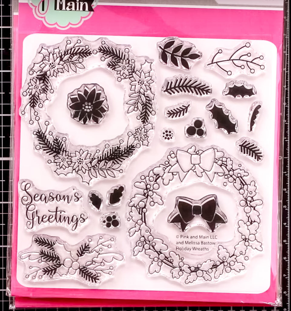 All new craft stamps and pixie dust Holiday Wreaths - inktoberfest