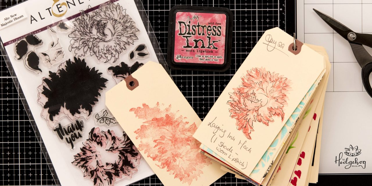CRAFT HACK for LAYERING INKS with ONE COLOR! – Inktoberfest Day 29