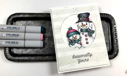 Copic Colored Snowmen with Amber