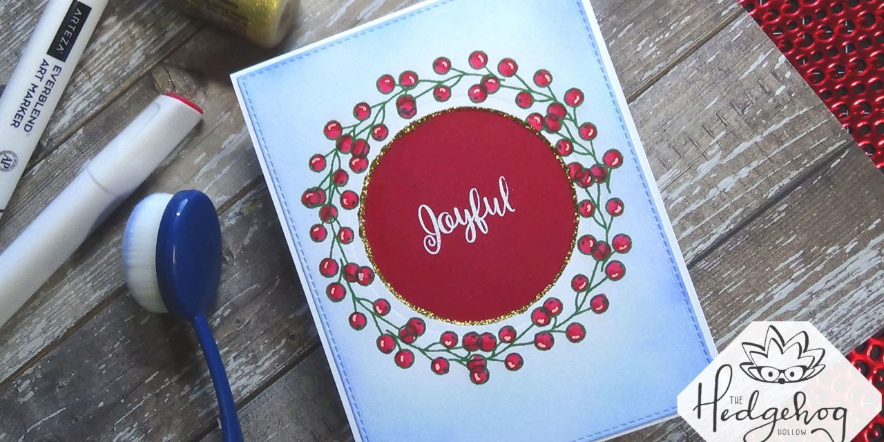 Wreath Building with ONE Stamp with Kari W.