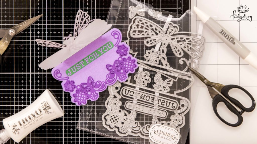Tonic Make 3D Dragonfly Cards With Die Cut Sets