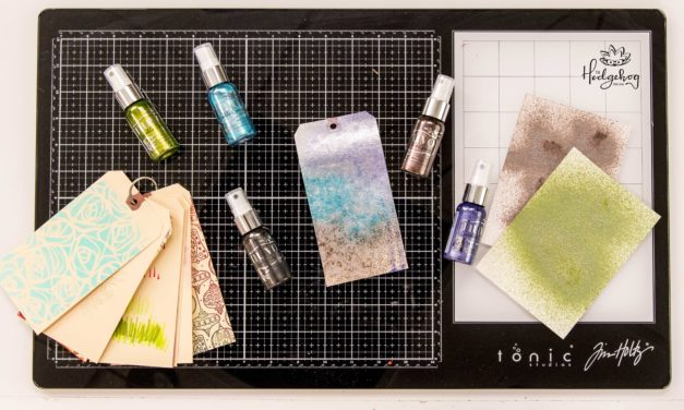 Fun Textures with Tonic Sparkle Spray – Inktoberfest Day 9