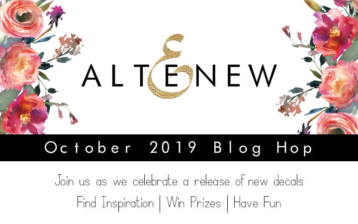 altenew decal blog hop release October 2019