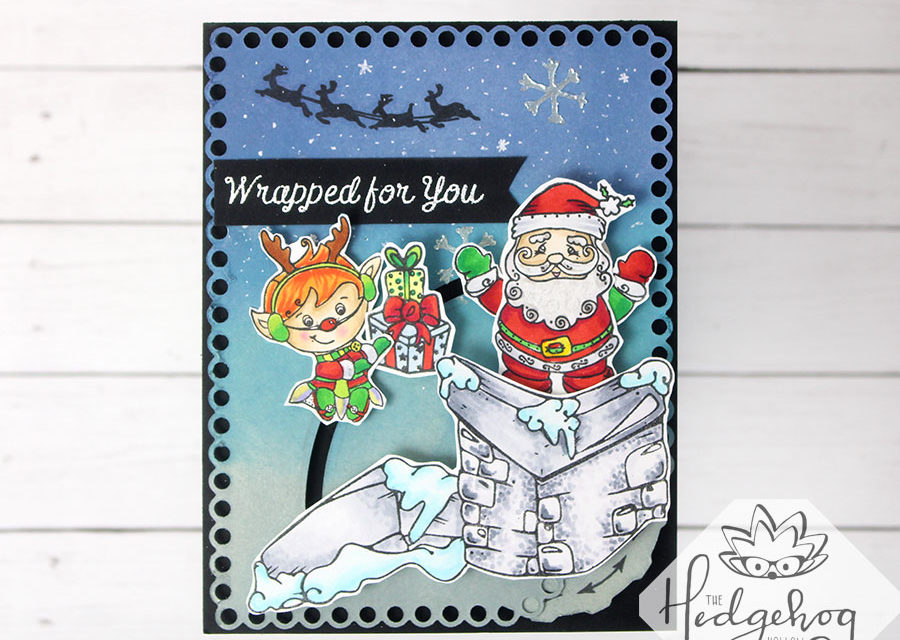 Interactive Santa card with the October kit